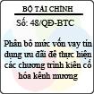 Quyết định 48/QĐ-BTC