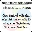 Thông tư 30/2012/TT-NHNN