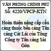 Công văn 4220/VPCP-KTN