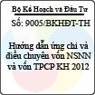 Công văn 9005/BKHĐT-TH