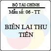 Biểu mẫu Biên lai thu tiền