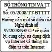 Thông tư số 05/2008/TT-BTTTT