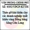 Công văn 4592/VPCP-KTTH