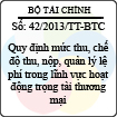 Thông tư 42/2013/TT-BTC