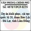 Công văn 4678/VPCP-KTN