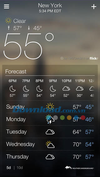 Yahoo Weather for iOS