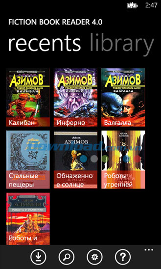 Fiction Book Reader for Windows Phone