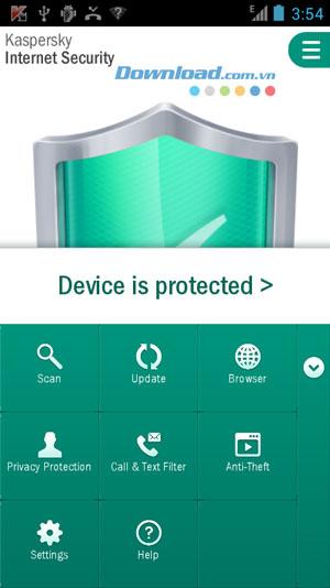 Kaspersky Internet Security trên Android