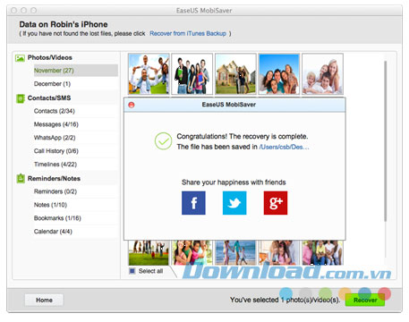 EaseUS MobiSaver for Mac