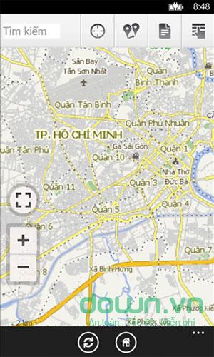 Bản đồ Việt cho Windows Phone
