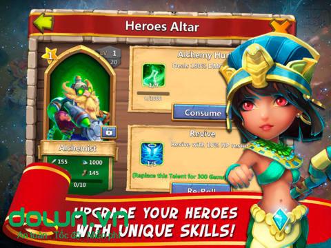 Castle Clash cho iOS