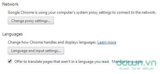 Hướng dẫn thay đổi ngôn ngữ cho trình duyệt Google Chrome