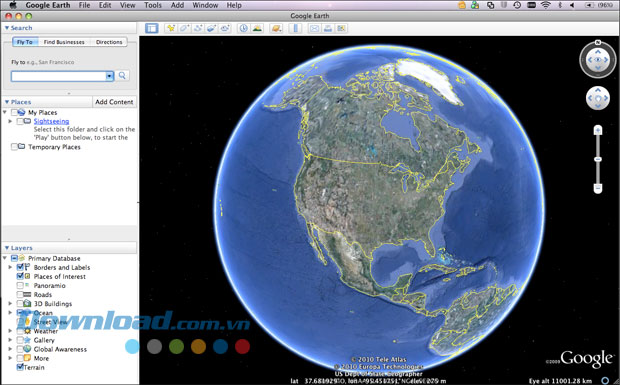 Google Earth cho Mac