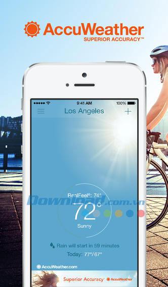 AccuWeather cho iOS