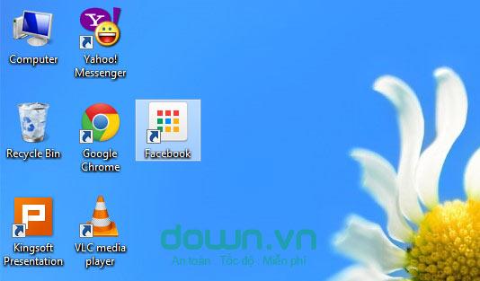 Hướng dẫn cách tạo icon Fcebook trên Desktop