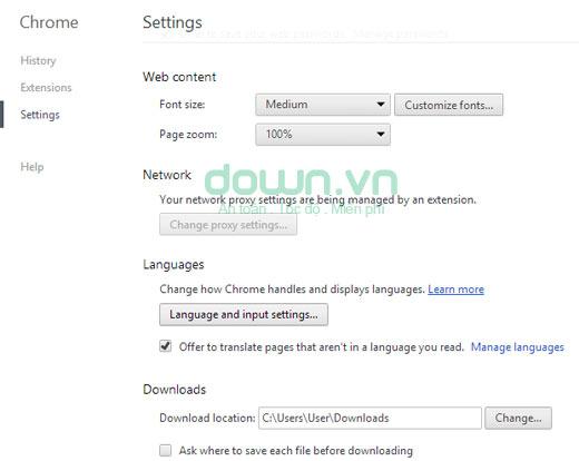 Hướng dẫn thay đổi ngôn ngữ trình duyệt Chrome