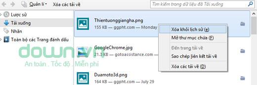 Cách mở và xóa file tải về trong Firefox