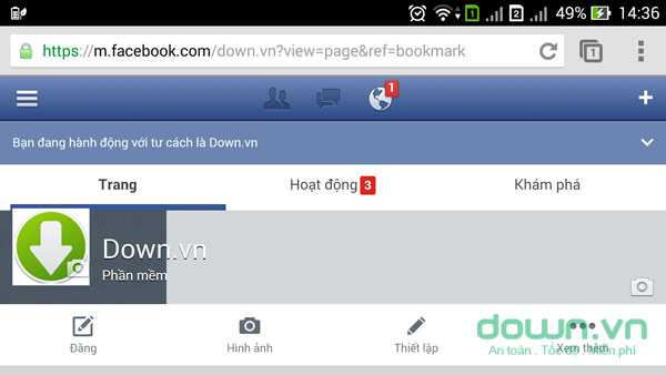 Chat trên Facebook không cần Messenger