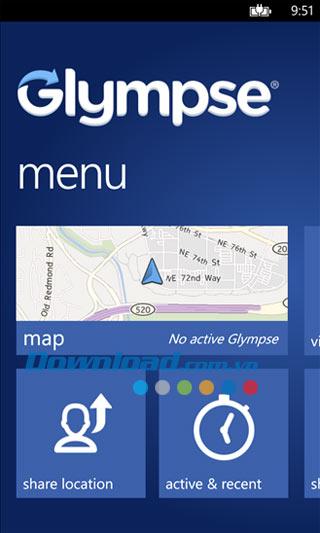 Glympse cho Windows Phone