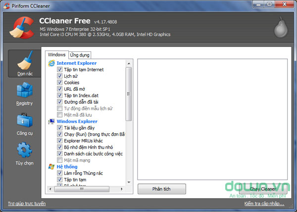 CCleaner cho Windows