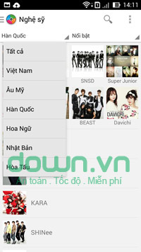 Zing Mp3 cho Android