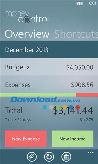 MoneyControl cho Windows Phone