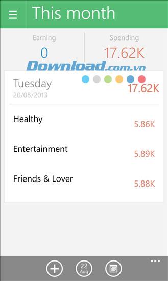 Money Lover cho Windows Phone