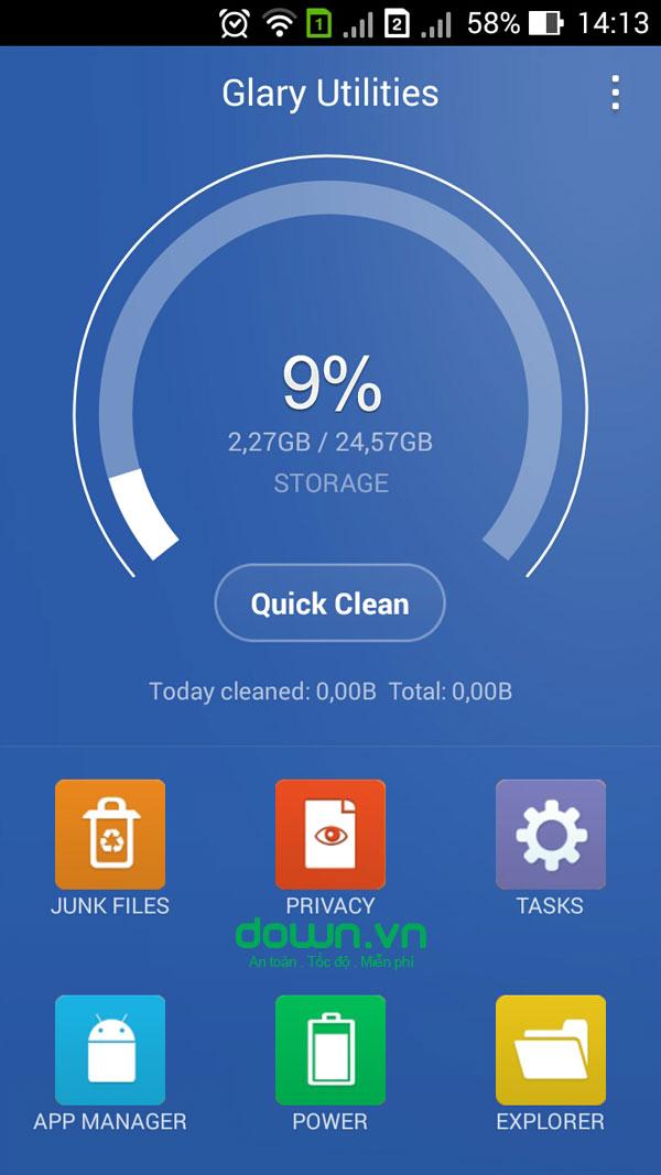 Glary Utilities cho Android