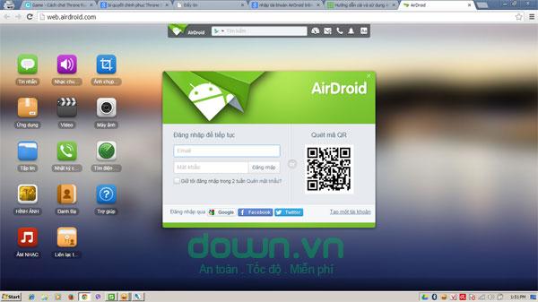 Hướng dẫn cài và sử dụng phần mềm điều khiển thiết bị Android từ xa bằng AirDroid