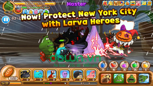 Larva Heroes cho iOS