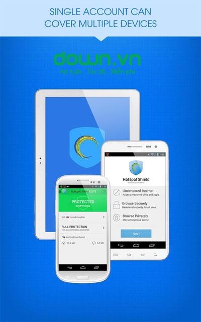 Hotspot Shield VPN cho Windows Phone