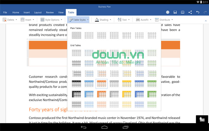 Microsoft Word Preview cho Android