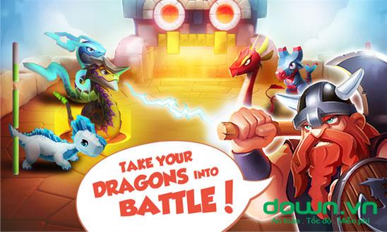 Dragon mania legends cho windowsphone