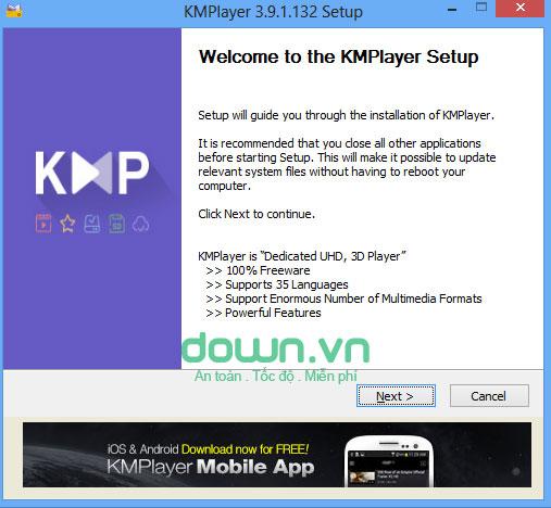 KMPlayer phiên bản mới