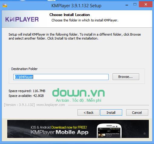 Phần mềm nghe nhạc KMPlayer cho máy tính