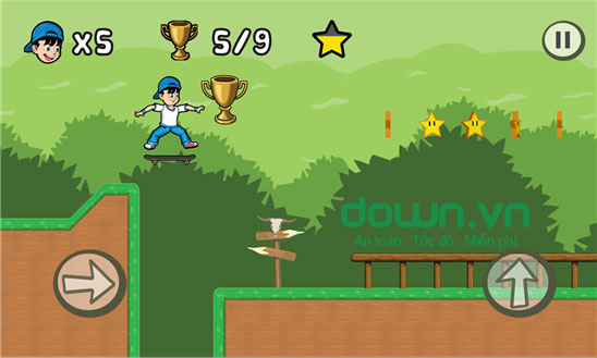 Game lướt ván miễn phí Skater Kid cho Windows Phone