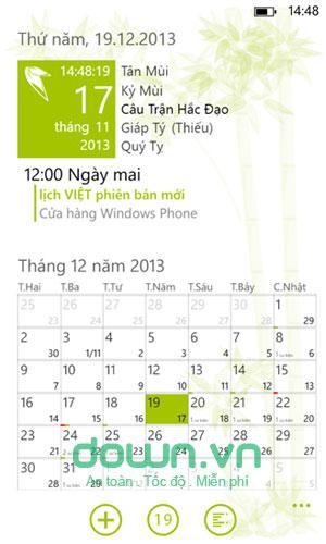 Lịch Tết cho Windows Phone