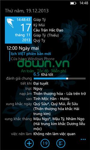 Lịch Việt 2015 cho Windows Phone
