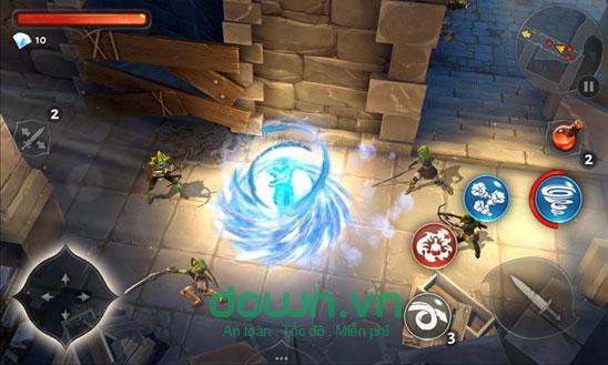 Tiêu diệt lũ yêu quái trong Dungeon Hunter 5