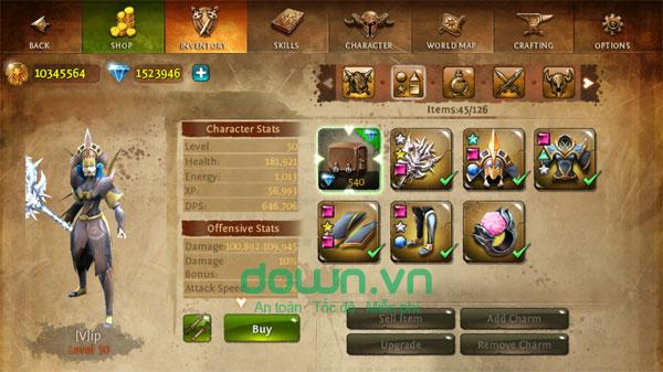 Tiền thưởng trong Dungeon Hunter 5 cho Windows