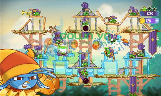 Cách bắn chim trong Angry Birds Stella