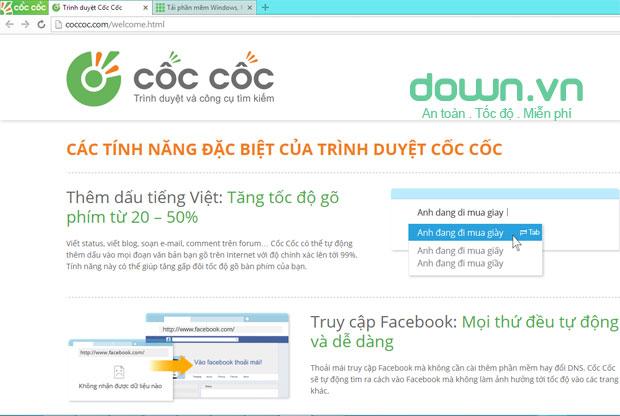 Trình duyệt Web Cốc Cốc miễn phí