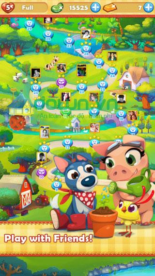 Game siêu nông trại anh hùng cho iOS