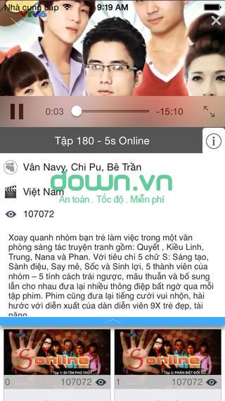 Tải ứng dụng xem phim cho iOS