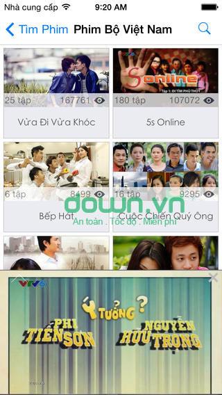 Ứng dụng xem phim cho iOS