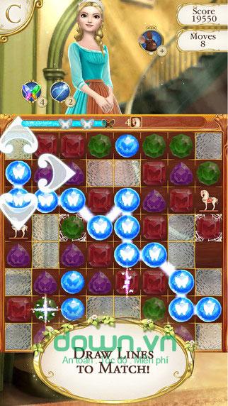 Các tính năng trong Cinderella Free Fall cho iOS