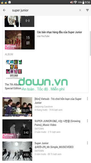 Video phú trên YouTube cho iOS