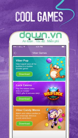 Ứng dụng nhắn tin, gọi thoại của Viber cho iOS