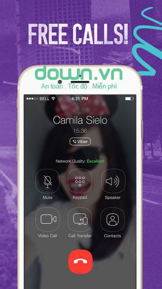 Nhắn tin, gọi thoại miễn phí cho iOS