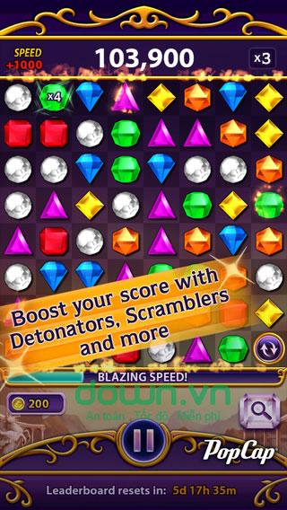 Game kim cương Bejeweled Blitz miễn phí cho iOS